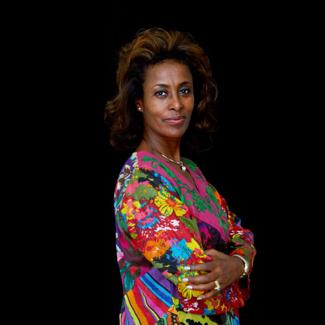 "Meaza Ashenafi, Advisor on Women's Human Rights for the UN Economic Commission for Africa (UNECA) and founding executive director of the Ethiopian Women Lawyers Association. Aberash Bekele's rapist was following local Ethiopian tradition when he kidnapped the 14-year-old girl on her way home from school, sexually assaulted her and then declared that she would become his wife. But the teen fought back, shooting and killing her abductor as she escaped. For her courage, she was jailed and charged with murder. Ethiopian attorney Meaza Ashenafi successfully defended the teenager, a tale that inspired the 2014 film ""Difret."" Now an adviser on women's human rights for the UN Economic Commission for Africa, Ashenafi knows that most efforts to advocate for women and girls are unlikely to end up on the big screen. Advocacy at the grassroots level—in schools, town halls and community forums—is as much a catalyst for change as headlines and high-level debate, she said. ""Change comes from within,"" said Ashenafi. ""All big social problems need multiple levels of intervention. There is no, you know, silver bullet to solve the problem. It also takes time."" ""Africa is a big continent, and it's very difficult to talk uniformly about the progress. But there is hope,"" she said. ""Because this is 2015, and we shouldn't be talking about child marriage, female genital mutilation . . .. We should be talking about development, investment, technology, women's participation in leadership."" For a portrait series on champions leading to end child marriage in Africa. All images made at the first-ever African Girls' Summit on Ending Child Marriage, held in Lusaka, Zambia. The meeting aimed to facilitate exchange of good practices and challenges in ending child marriage, and to secure and renew commitments from African stakeholders."