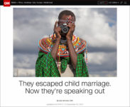 What the Power of Photography has Meant in 2017 for Child Brides